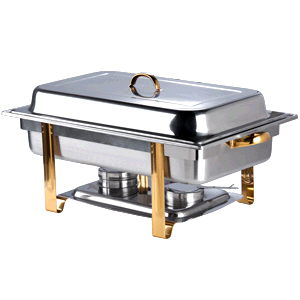 Where to find Chafer rect 8qt ss w gold in Philadelphia