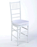 Rental store for Chair Chiavari White w cushion in Philadelphia PA