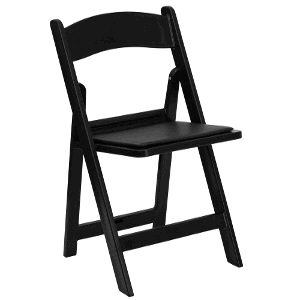 Where to find Chair Garden Resin Black w pad in Philadelphia