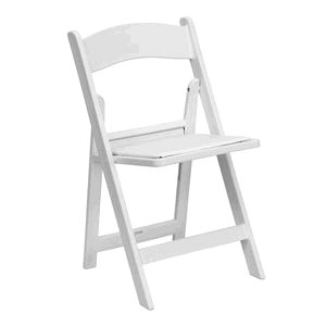 Where to find Chair Garden Resin White w pad in Philadelphia