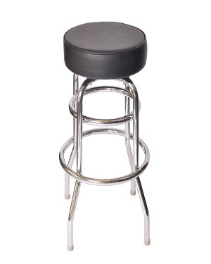 Where to find Chair stool chrome black no ba in Philadelphia