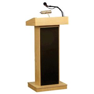 Where to find Lectern stand oak w audio AC in Philadelphia